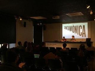 Junto a Jordi Maiso en el Ars Santa Mònica